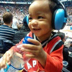 e384a4b752 Baby Xavier is really working those Baby Banz Mini Muffs! For budding  sports fans