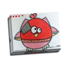 'Red Birdz 1' 11-inch x 14-inch Wrapped Canvas Wall Art, Picture It on Canvas