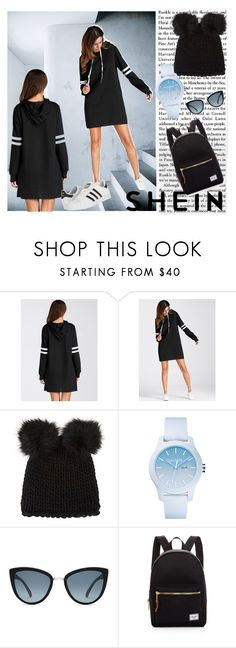 """Shein"" by sejla-berbic ❤ liked on Polyvore featuring Barneys New York, Lacoste, Herschel Supply Co. and adidas"