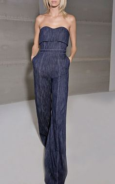 4a0e75af53f Allen Strapless Jumpsuit by ALEXIS for Preorder on Moda Operandi Blue Jean  Jumpsuit