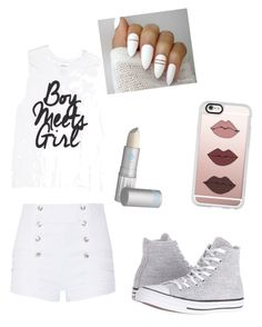"""""""Old Fashion"""" by babyzozo ❤ liked on Polyvore featuring Pierre Balmain, Converse, Lipstick Queen and Casetify"""