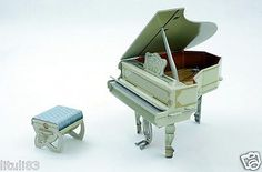 1:12 Dollhouse Miniature Grand Piano. musical instrument,hobby Model kit /261-02