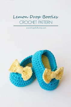 365 Crochet: Lemon Drop Booties -free crochet pattern-
