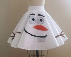 Happy Snowman Short Circle Skirt