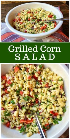 Grilled Corn Salad with a Tangy Lime Vinaigrette recipe from RecipeGirl.com #grilling #corn #salad #summer #recipe #RecipeGirl via @recipegirl