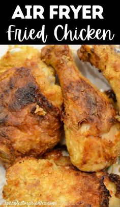 Air Fryer fried chicken is juicy on the inside and crispy on the outside with this easy recipe from Sparkles to Sprinkles. You will love the crispness of the skin when cooked in the Air Fryer! You only need a few simple ingredients to make the most flavorful fried chicken in no time! Air Fryer Fried Chicken, Making Fried Chicken, Fried Chicken Recipes, Air Fryer Dinner Recipes, Air Fryer Recipes Easy, Chicke Recipes, Breaded Pork Chops, Best Instant Pot Recipe, Party Food And Drinks