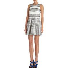 3.1 Phillip Lim Bordered Melange Striped Sleeveless Dress at Barneys.com