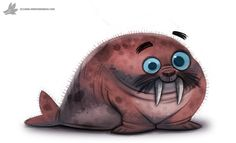 Daily Painting 766. Walrus by Cryptid-Creations.deviantart.com on @DeviantArt