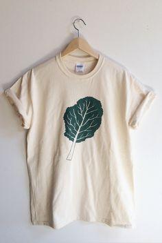Kale screenprinted t-shirts, sizes upto 3XL