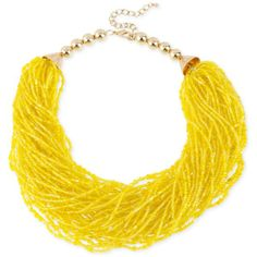 Haskell Necklace, Gold-Tone Yellow Seed Bead Torsade Necklace