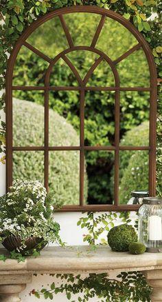 ideas para decorar jardín-espejos-opciones-originales