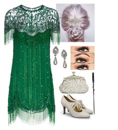 """Morgana Grindelwald, Fantastic Beasts"" by optimismflower ❤ liked on Polyvore featuring Accessorize and Jenny Packham"