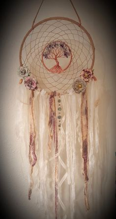 Tree Of Life Dream Catcher/Wall by PrettyThingz4UByMe on Etsy