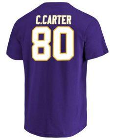 8fab32c1f70 Majestic Men's Cris Carter Minnesota Vikings Hall of Fame Eligible Receiver  Triple Peak T-Shirt - Purple S