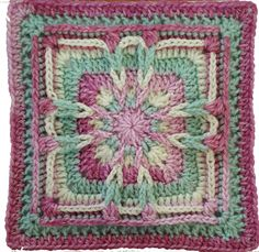 Transcendent Crochet a Solid Granny Square Ideas. Inconceivable Crochet a Solid Granny Square Ideas. Crochet Squares Afghan, Granny Square Crochet Pattern, Crochet Blocks, Crochet Granny, Crochet Yarn, Granny Squares, Free Crochet, Crochet Motif Patterns, Knitting Patterns