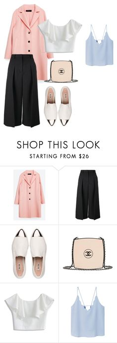 """""""PINK"""" by brithany-andrade on Polyvore featuring Zara, Erdem, Miu Miu, Chanel, Chicwish and MANGO"""