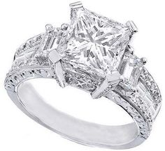 love the princess cut and vintage look