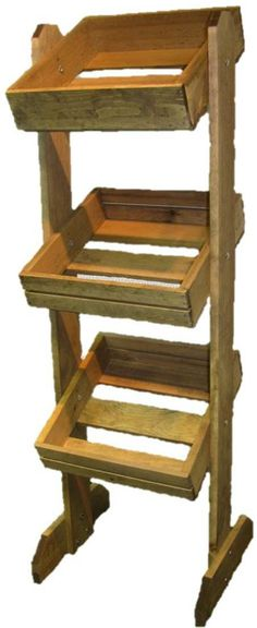 Item #CR12 - Custom Wooden Rack Display -  Gives a rustic appearance and allows for higher product display to increase visibility... #mainebucket #woodendisplays #retail
