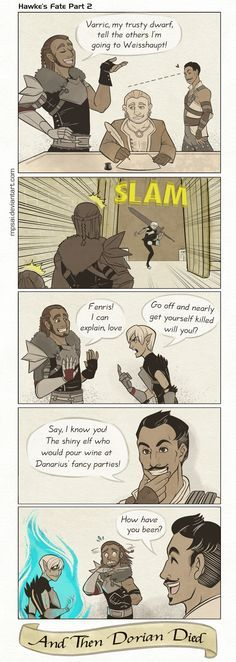 The story of dorians true death! Dragon Age - Hawke's Fate Part 2 by MPsai