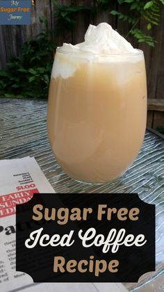 Sugar Free Iced Coffee Recipe Summer in Texas means blistering hot days and nights that are almost as bad so we are always looking for ways to cool down and stay Sugar Free. Here's our delicious recipe for Sugar Free Iced Coffee. Sugar Free Iced Coffee, Iced Coffee Drinks, Sugar Free Recipes, Low Carb Recipes, Healthy Recipes, Ketogenic Recipes, Coffee Date, Coffee Coffee, Starbucks Coffee