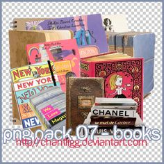PNG PACK 07 - BOOKS by ChantiiGG on deviantART