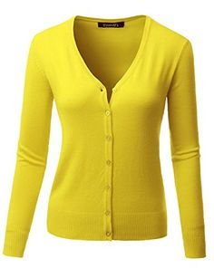 Thanth Womens Crew Neck Long Sleeve Basic Sweater Knit Button ...