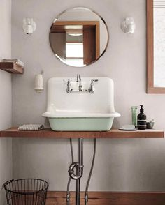 Unique Bathroom Sink Ideas That Are So Fresh And So Clean Clean - Vintage wall mount bathroom sink for bathroom decor ideas