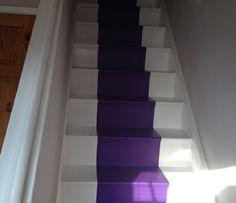 Purple Carpet Stairs Carpet Tiles For Basement, Carpet Stairs, Purple Carpet, House Design, Architecture, Decorating Ideas, Rooms, Interiors, Pink