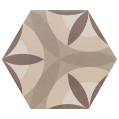 Hexagon Leaf Cream 17.5cm x 20cm – Baked Tiles