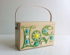 FOR SALE: Rare Enid Collins LOVE box purse