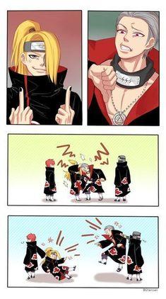 Image in Akatsuki Anime Naruto, Naruto Akatsuki Funny, Funny Naruto Memes, Naruto Comic, Naruto Fan Art, Otaku Anime, Anime Meme, Itachi Uchiha, Naruto Cute