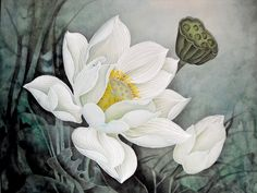 this painting is about waterlily which is my  favorite to draw.