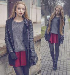 Sheinside Jacket, Oasap Sweater
