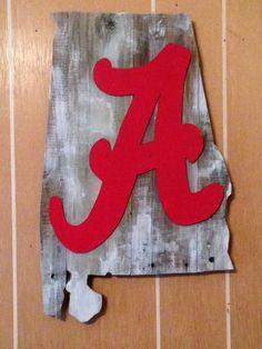 Pallet wood Alabama Crimson Tide sign