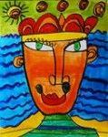 Portrait à la manière d'Hundertwasser