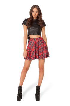 Tartan Red Skater Skirt › Black Milk Clothing