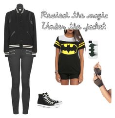 """Under the Jacket"" by kianaroha ❤ liked on Polyvore featuring Topshop, Yves Saint Laurent, Converse, women's clothing, women's fashion, women, female, woman, misses and juniors"