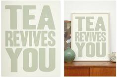 Tea Revives You - Olive | Prints | Shop | The Calm Gallery