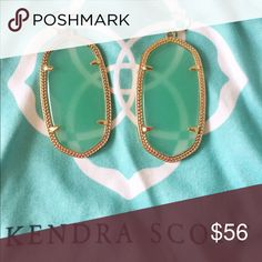Kendra Scott green Danielle earrings 💯 authentic * green Danielle earrings in gold setting * perfect condition  * comes with KS dustbag ❌ no trades ❣️offers welcome! Kendra Scott Jewelry Earrings
