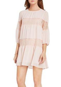 Bcbgeneration Women's Lace Insert Dress - Rose Smoke - S