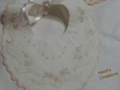 hand embroidered,с ручной вышивкой,ricamata a mano,bavetta con fiori https://www.facebook.com/lecreazionidiheidi?ref=stream