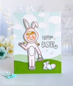 Happy Easter Card by Kay Miller for Papertrey Ink (February 2016)