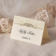 Place Cards Tented Place Cards Escort Card Name by DecorisWedding