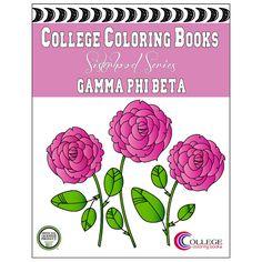 Gamma Phi Beta GPhiB Coloring Book  by CollegeColoringBooks