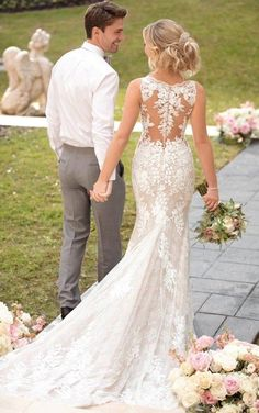 Vintage Wedding Dress with Unique Lace Details - Stella York.- Vintage Wedding Dress with Unique Lace Details – Stella York Wedding Dresses Vintage Wedding Dress with Unique Lace Details – Stella York Wedding Dresses - Lace Wedding Dress, Fit And Flare Wedding Dress, Long Sleeve Wedding, Best Wedding Dresses, Designer Wedding Dresses, Bridal Dresses, Outdoor Wedding Dress, Sun Dresses, Tulle Wedding