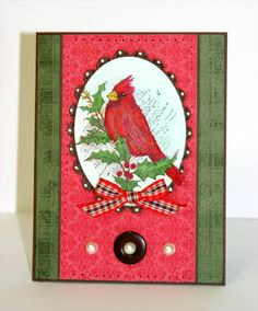 Christmas Cardinal by sleepyinseattle - Cards and Paper Crafts at Splitcoaststampers