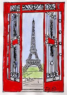 Red Gates to Paris - Fifi Flowers