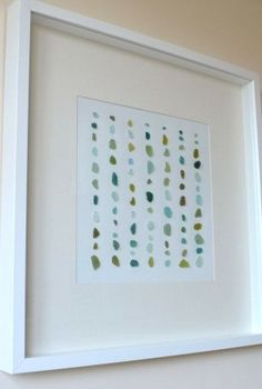 Several cute, simple ideas.  :)  10 Sea Glass Projects!  Love the frame...great to do with sea shells from trips