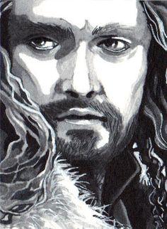 Original Hobbit Mini Illustration - Thorin Oakenshield.