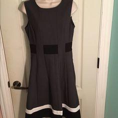 New Calvin Klein Classey Dress New (without tags) Calvin Klein gray black and white dress size 4. Calvin Klein Dresses Midi
